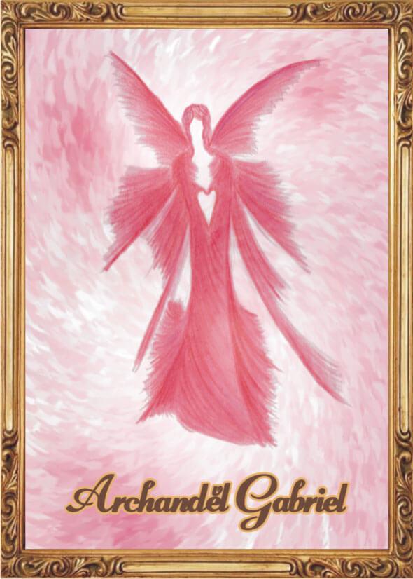 Andělská Karta S Modlitbou – Archanděl Gabriel