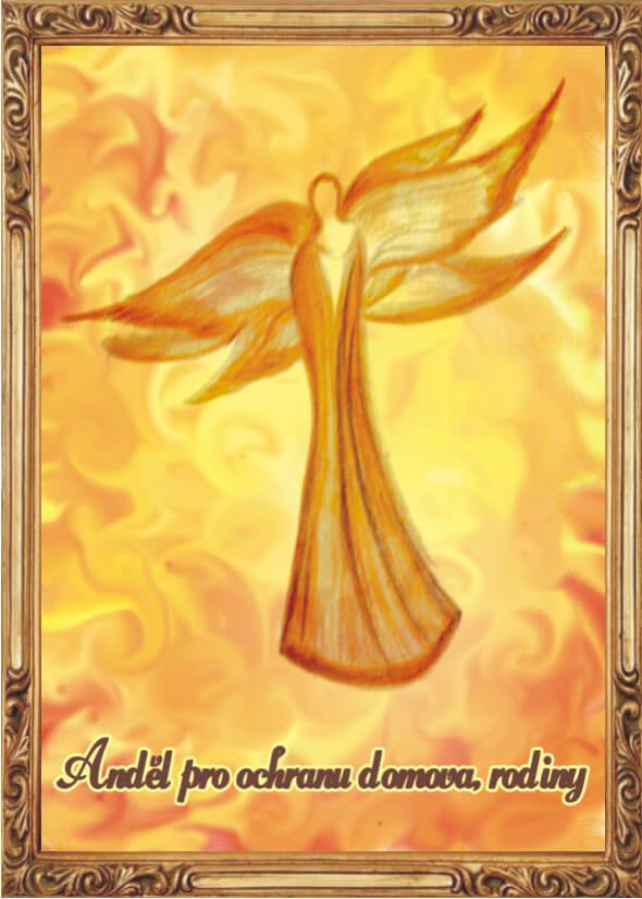 Andělská Karta S Modlitbou – Anděl Pro Ochranu Domova