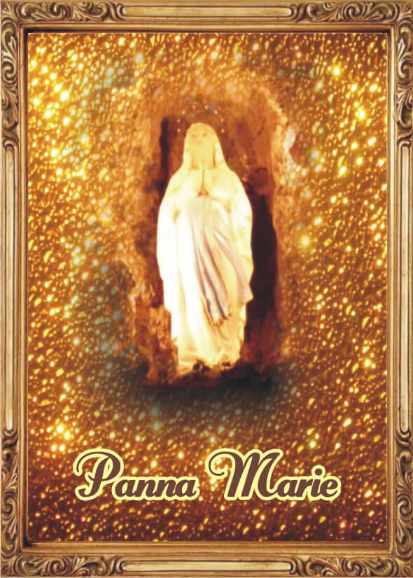 Andělská Karta S Modlitbou – Kartička Panny Marie