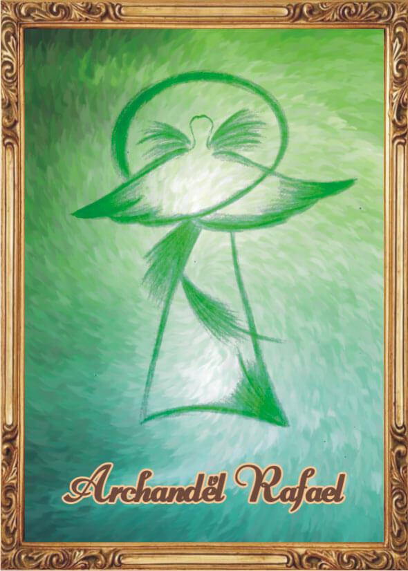 Andělská Karta S Modlitbou – Archanděl Rafael